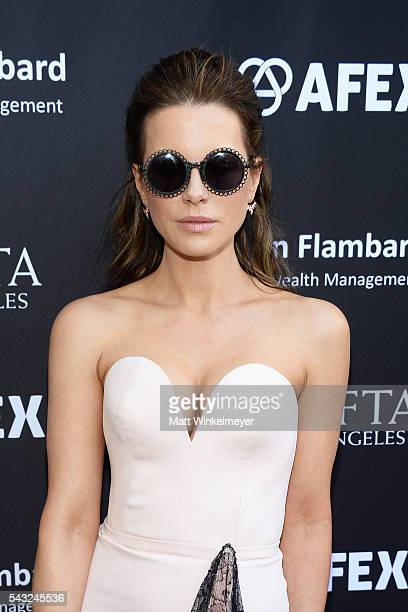 Actress Kate Beckinsale attends the BAFTA LA Garden Party on June 26 2016 in Los Angeles California