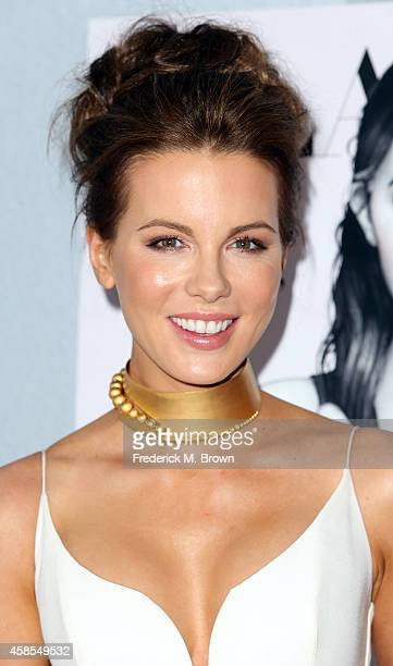 Actress Kate Beckinsale attends the Battersea Power Station Global Launch Party in Los Angeles at The London Hotel on November 6 2014 in West...