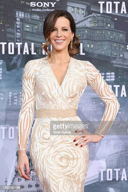 Actress Kate Beckinsale attends the Germany premiere of Total Recall at Sony Center on August 13 2012 in Berlin Germany