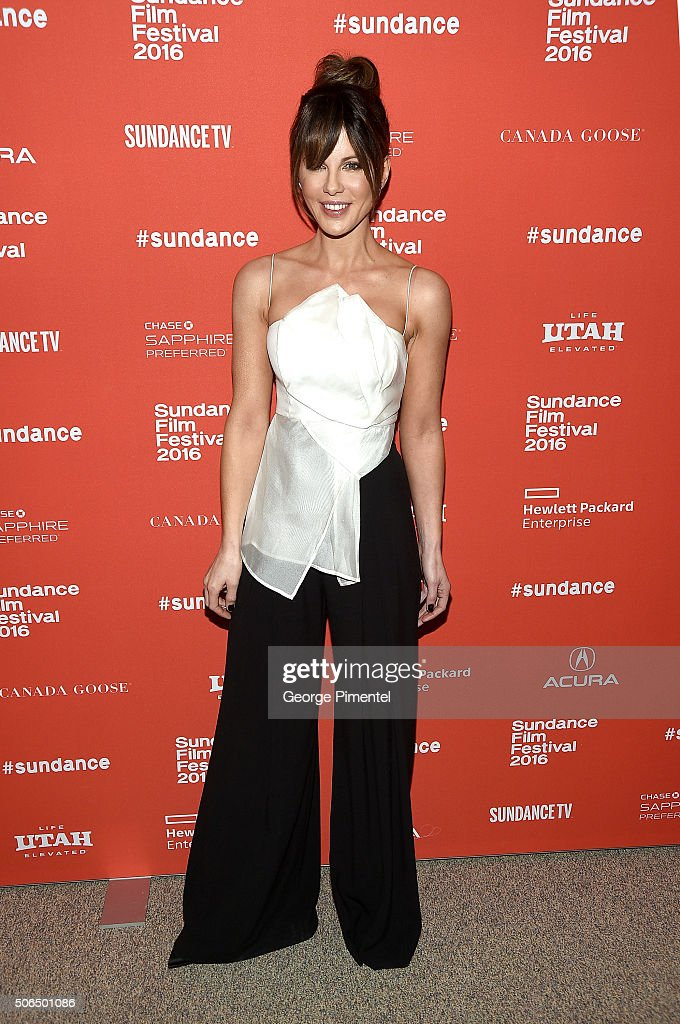Actress Kate Beckinsale attends the 'Love & Friendship' Premiere during the 2016 Sundance Film Festival at Eccles Center Theatre on January 23, 2016 in Park City, Utah.