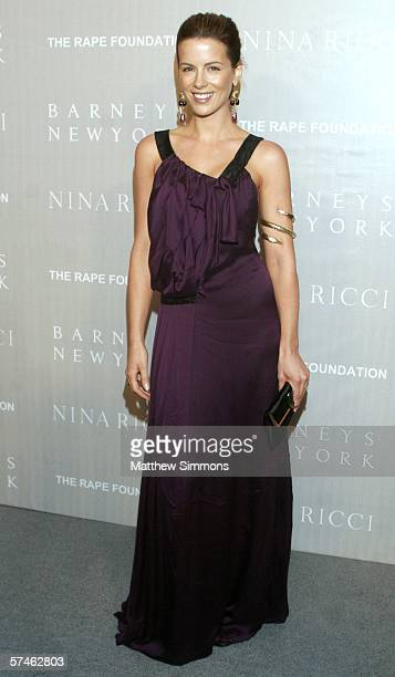 Actress Kate Beckinsale attends the Nina Ricci Fall 2006 Collection fashion show to benefit The Rape Foundation at Barneys New York on April 26 2006...