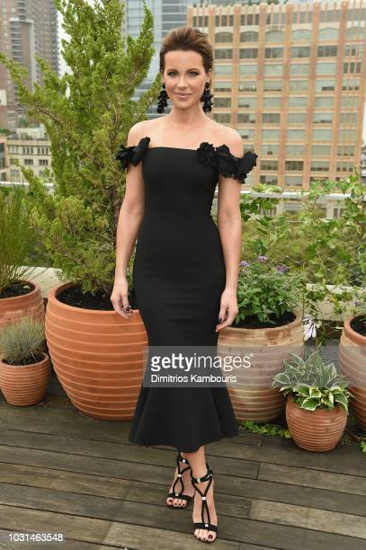 Actress Kate Beckinsale attends the Oscar De La Renta front Row during New York Fashion Week The Shows at Spring Studios Terrace on September 11 2018...