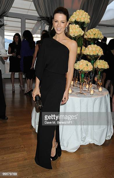Actress Kate Beckinsale attends the Vanity Fair and Gucci Party Honoring Martin Scorsese during the 63rd Annual Cannes Film Festival at the Hotel Du...