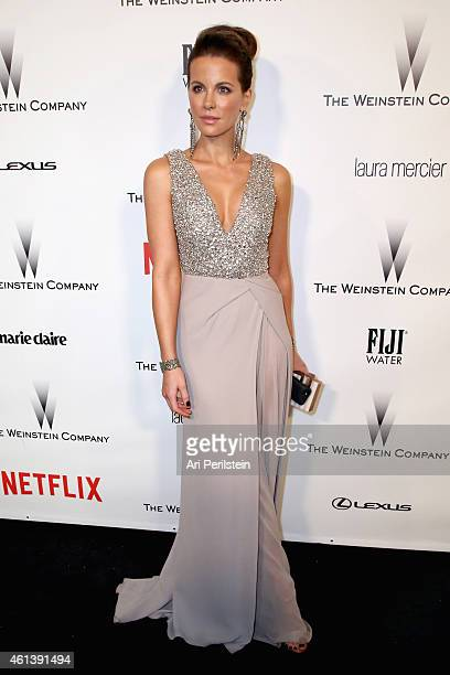 Actress Kate Beckinsale attends The Weinstein Company Netflix's 2015 Golden Globes After Party presented by FIJI Water Lexus Laura Mercier and Marie...