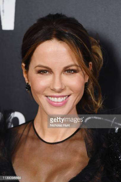 Actress Kate Beckinsale attends The Widow New York Premiere at Crosby Street Hotel on March 01 2019 in New York City