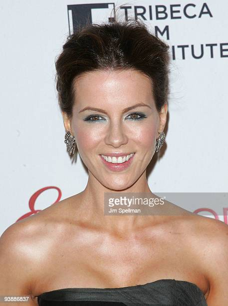 Actress Kate Beckinsale attends Tribeca Film Institute's benefit screening of 'Everybody's Fine' at AMC Lincoln Square on December 3 2009 in New York...