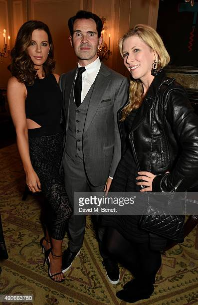 Actress Kate Beckinsale comedian Jimmy Carr and Karoline Copping attend The Academy Of Motion Pictures Arts Sciences new members reception hosted by...