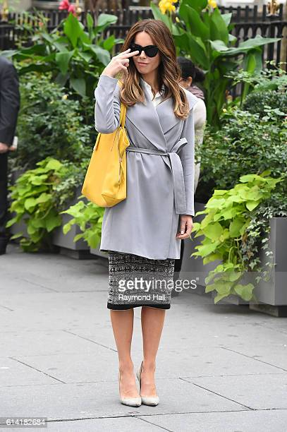 Actress Kate Beckinsale is seen on the set of 'The Only Boy In New York' on October 12, 2016 in New York City.