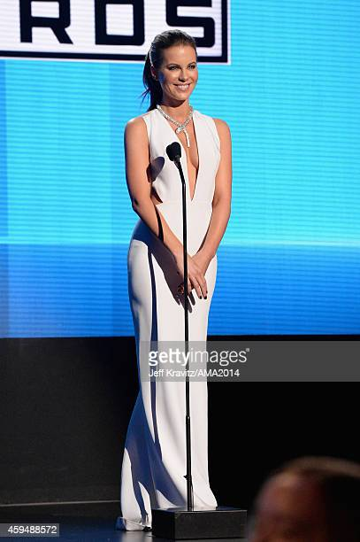 Actress Kate Beckinsale onstage at the 2014 American Music Awards at Nokia Theatre LA Live on November 23 2014 in Los Angeles California