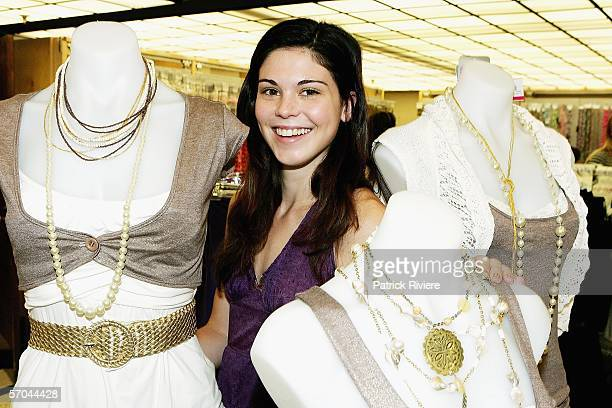 Actress Kate Bell attends the Supre Celebrity Fast Frock Up Challenge on March 10 2006 in Sydney Australia