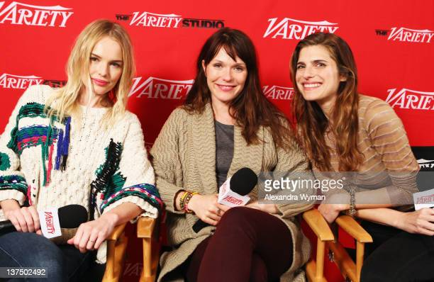 Actress Kate Bosworth actress/director Katie Aselton and actress Lake Bell attend day 1 of The Variety Studio at The 2012 Sundance Film Festival at...