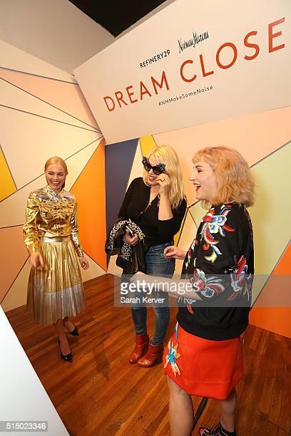 Actress Kate Bosworth Amanda de Cadenet and Executive Creative Director Piera Gelardi attend Refinery29's School of Self Expression opening night...