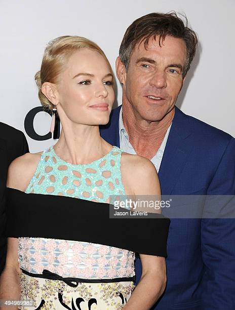 Actress Kate Bosworth and actor Dennis Quaid attend the premiere of 'The Art of More' at Sony Pictures Studios on October 29 2015 in Culver City...