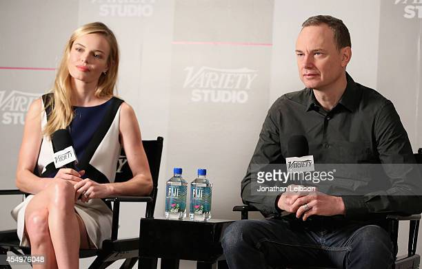Actress Kate Bosworth and co-writer/co-director Wash Westmoreland attend the Variety Studio presented by Moroccanoil at Holt Renfrew during the 2014...