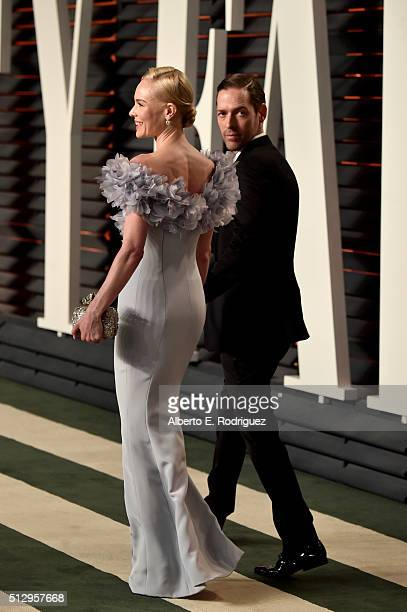Actress Kate Bosworth and film producer Michael Polish attend the 2016 Vanity Fair Oscar Party hosted By Graydon Carter at Wallis Annenberg Center...