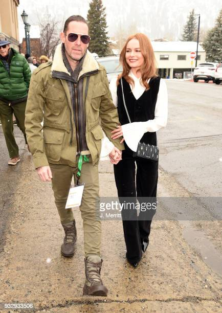 Actress Kate Bosworth and her husband Michael Polish are seen around Sun Valley ID at the 2018 Sun Valley Film Festival Day 3 on March 16 2018 in Sun...