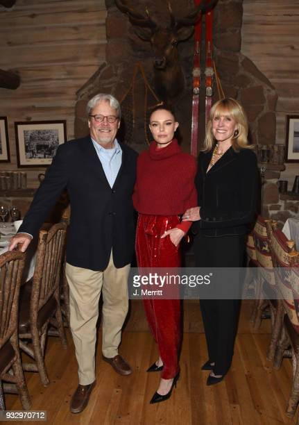 Actress Kate Bosworth and her parents Patricia Bosworth and Harold Bosworth attend the 2018 Sun Valley Film Festival Pioneer Award Party for Kate...
