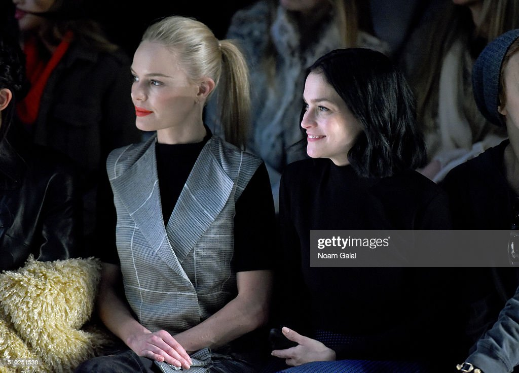Actress Kate Bosworth (L) and Leigh Lezark attend the Noon By Noor Fall 2016 fashion show during New York Fashion Week: The Shows at The Dock, Skylight at Moynihan Station on February 14, 2016 in New York City.