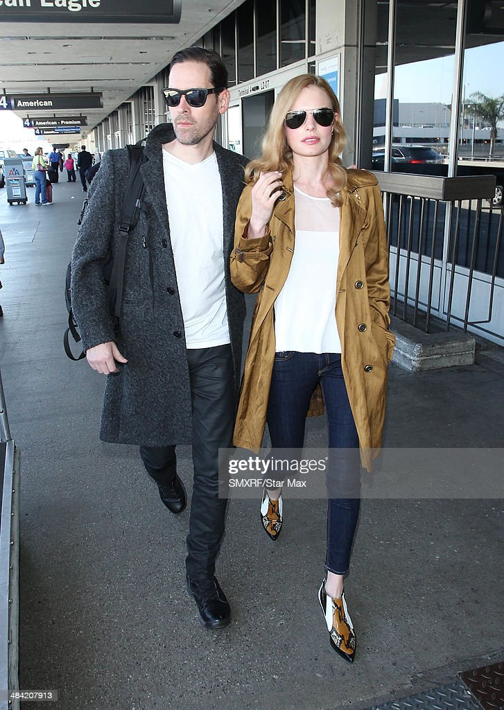 Actress Kate Bosworth and Michael Polish are seen on April 11, 2014 in Los Angeles, California.
