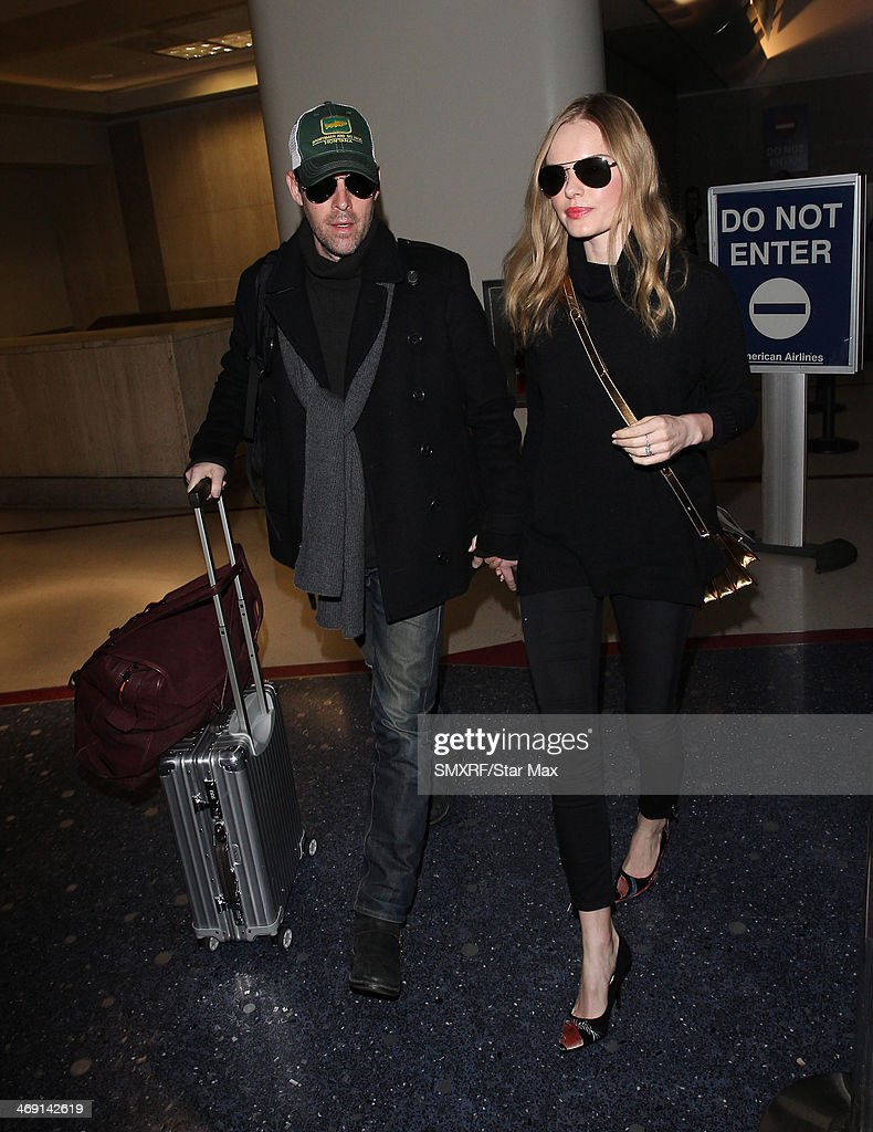 Actress Kate Bosworth and Michael Polish are seen on February 12, 2014 in Los Angeles, California.