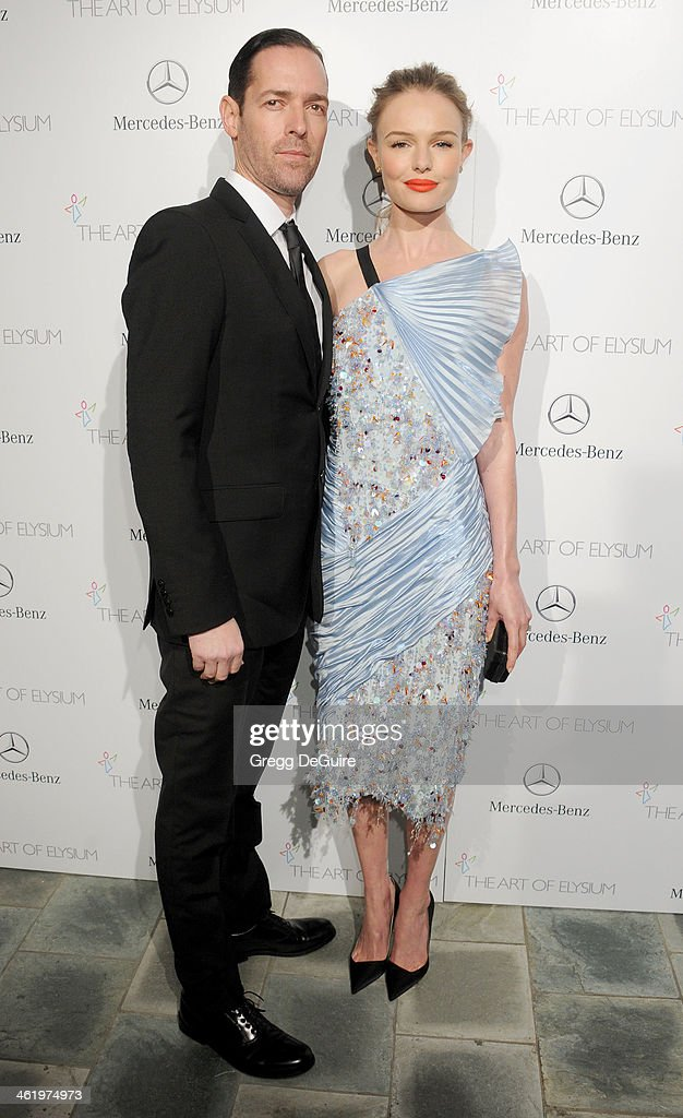 Actress Kate Bosworth and Michael Polish arrive at The Art of Elysium's 7th Annual HEAVEN Gala at the Guerin Pavilion at the Skirball Cultural Center on January 11, 2014 in Los Angeles, California.