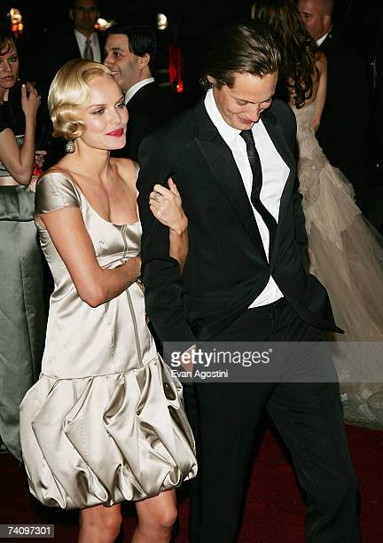Actress Kate Bosworth and new boyfriend James Rousseau leave The Metropolitan Museum of Art's Costume Institute Gala May 07, 2007 in New York City.