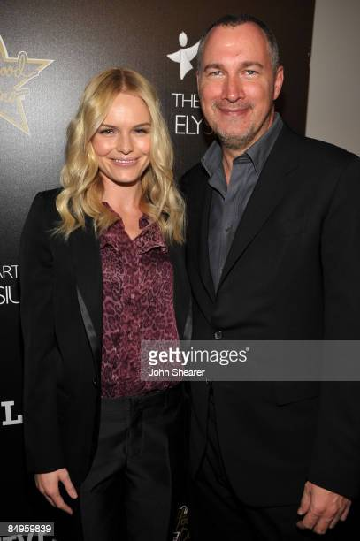 Actress Kate Bosworth and Vanity Fair publisher Edward Menicheschi arrive at the Bally and Vanity Fair Hollywood Domino Game Night benefiting The Art...