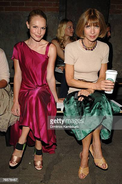 Actress Kate Bosworth and Vogue US Editor-in-Chief Anna Wintour at Thakoon Spring 2008 during Mercedes-Benz Fashion Week at Eyebeam on September 7,...