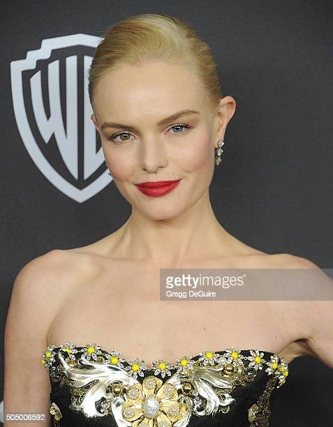 Actress Kate Bosworth arrives at the 2016 InStyle And Warner Bros 73rd Annual Golden Globe Awards PostParty at The Beverly Hilton Hotel on January 10...