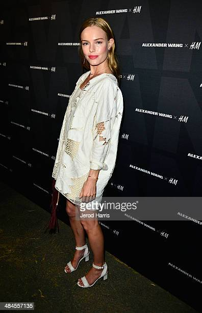 Actress Kate Bosworth arrives at the Alexander Wang X H&M Coachella Party held at the Indio Performing Arts Center on April 12, 2014 in Indio,...