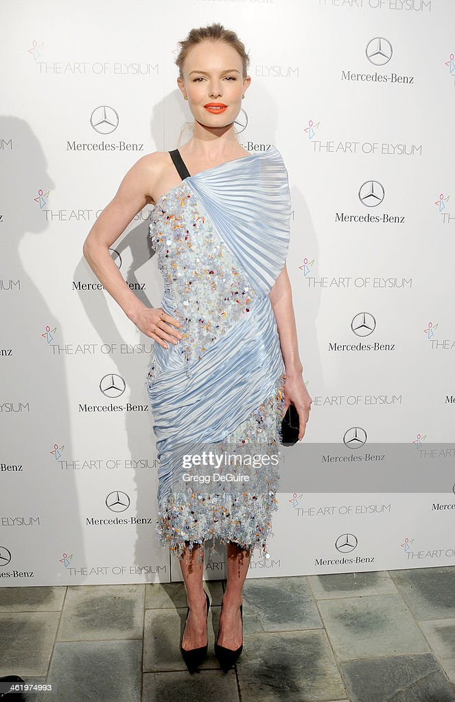 Actress Kate Bosworth arrives at The Art of Elysium's 7th Annual HEAVEN Gala at the Guerin Pavilion at the Skirball Cultural Center on January 11, 2014 in Los Angeles, California.