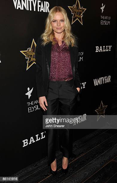 Actress Kate Bosworth arrives at the Bally and Vanity Fair Hollywood Domino Game Night benefiting The Art of Elysium held at Andaz on February 20,...