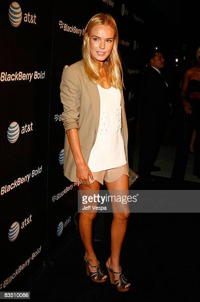Actress Kate Bosworth arrives at the Blackberry Bold launch party at a private residence on October 30 2008 in Beverly Hills California