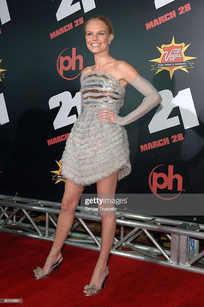 Actress Kate Bosworth arrives at the premiere of '21' at the Planet Hollywood Resort & Casino on March 12, 2008 in Las Vegas, Nevada.