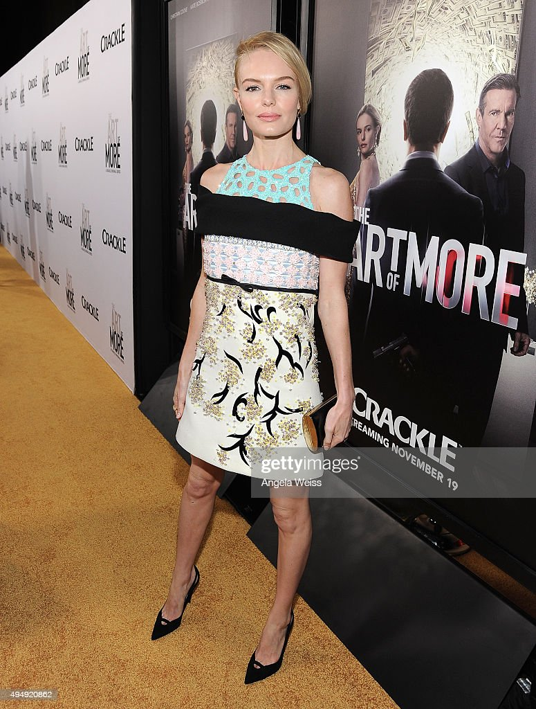Actress Kate Bosworth arrives at the premiere of Crackle's 'The Art of More' at Sony Pictures Studios on October 29, 2015 in Culver City, California.