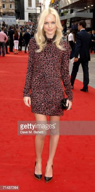 Actress Kate Bosworth arrives at the UK premiere of Superman Returns at Odeon Leicester Square on July 13 2006 in London England