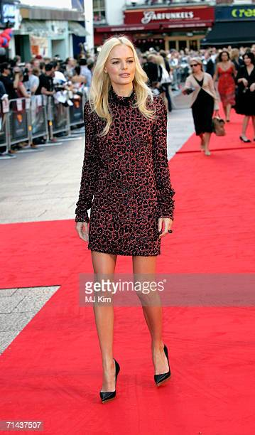 Actress Kate Bosworth arrives at the UK premiere of Superman Returns held at the Odeon Leicester Square on July 13 2006 in London England