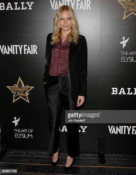 Actress Kate Bosworth arrives at the Vanity Fair and Bally's Hollywood Domino Art of Elysium Benefit Party at the Andaz Hotel on February 20, 2009 in...
