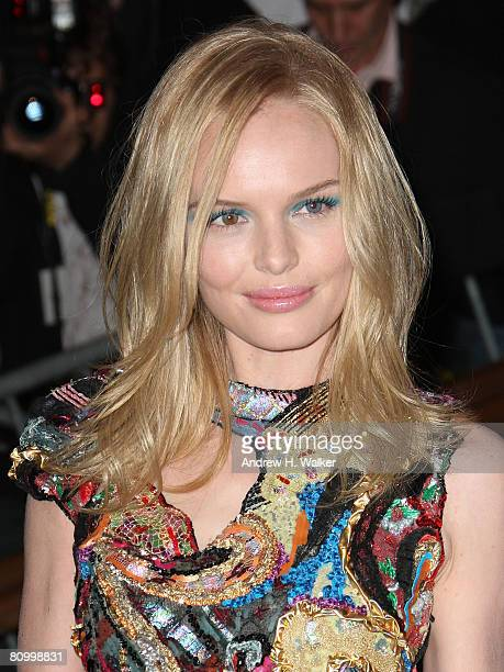 Actress Kate Bosworth arrives to the Metropolitan Museum of Art Costume Institute Gala, Superheroes: Fashion and Fantasy, held at the Metropolitan...