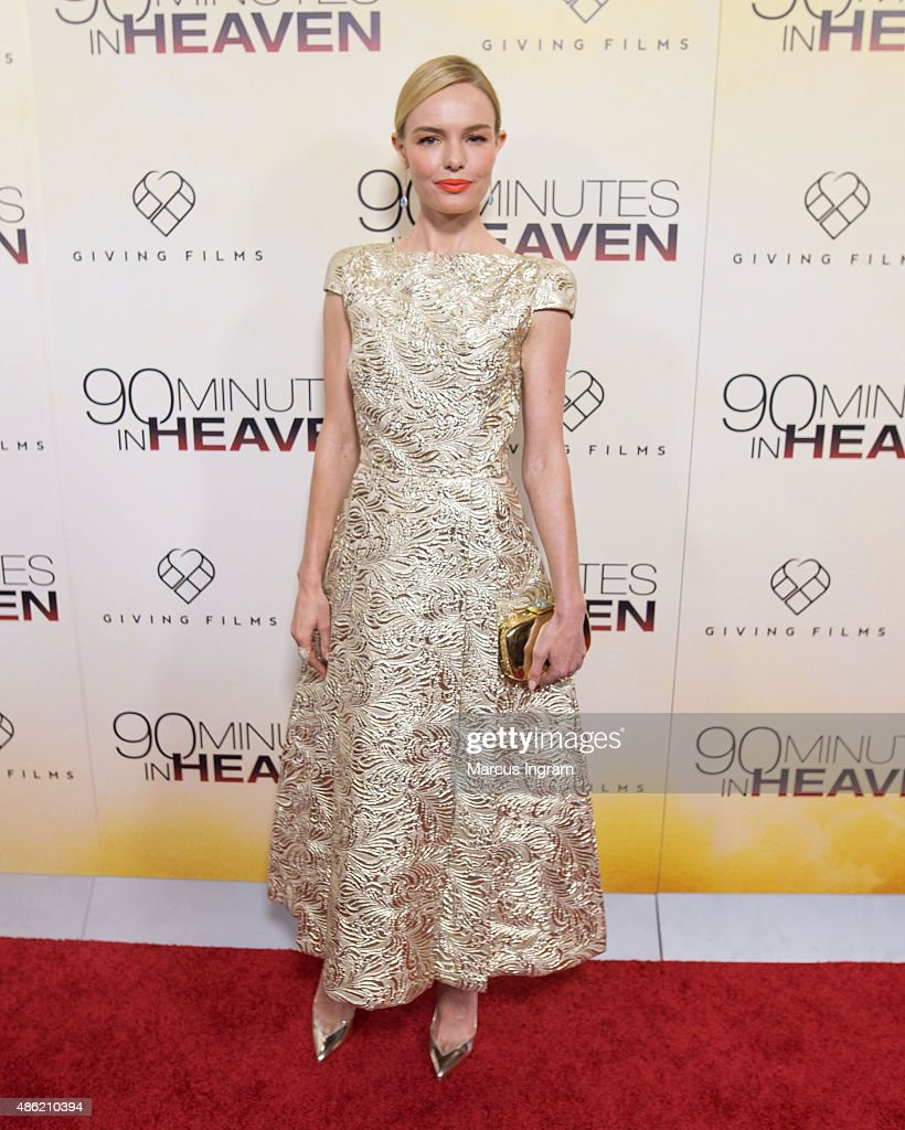 Actress Kate Bosworth attends '90 Minutes In Heaven' Atlanta premiere at Fox Theater on September 1, 2015 in Atlanta, Georgia.