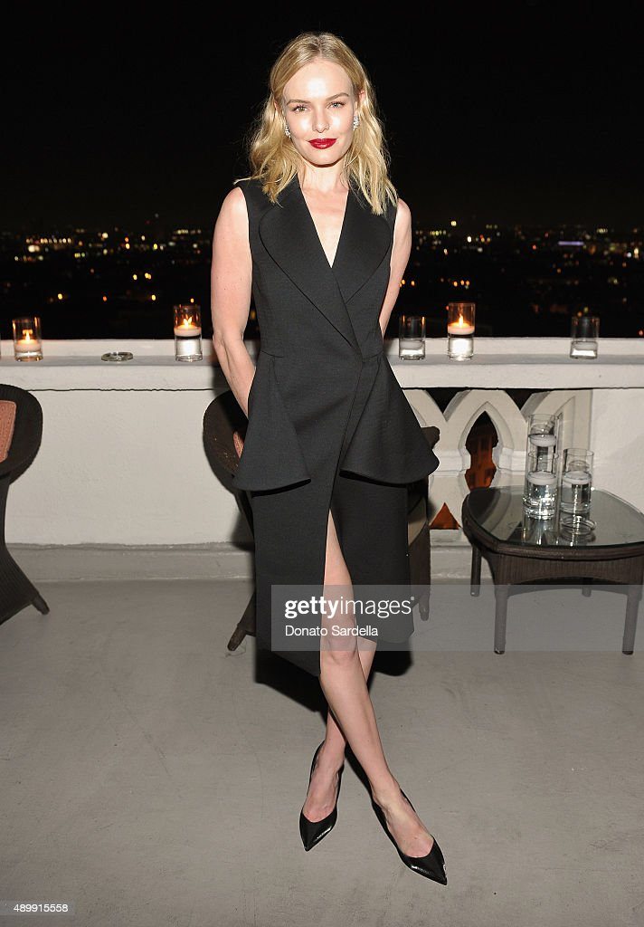 Actress Kate Bosworth attends a cocktail event hosted by Dior Homme's Kris Van Assche at Chateau Marmont on September 24, 2015 in Los Angeles, California.