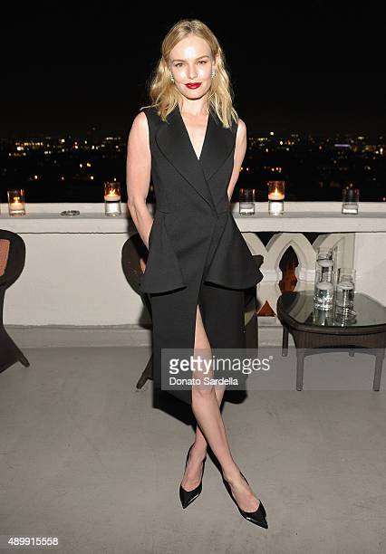 Actress Kate Bosworth attends a cocktail event hosted by Dior Homme's Kris Van Assche at Chateau Marmont on September 24 2015 in Los Angeles...
