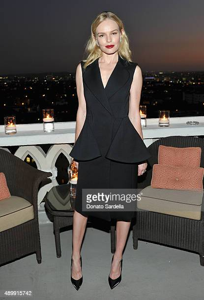 Actress Kate Bosworth attends a cocktail event hosted by Dior Homme's Kris Van Assche at Chateau Marmont on September 24, 2015 in Los Angeles,...