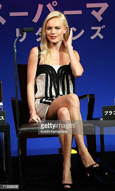 Actress Kate Bosworth attends a news conference for their film Superman Returnsat a Tokyo hotel on August 1 2006 in Tokyo Japan The film will open in...