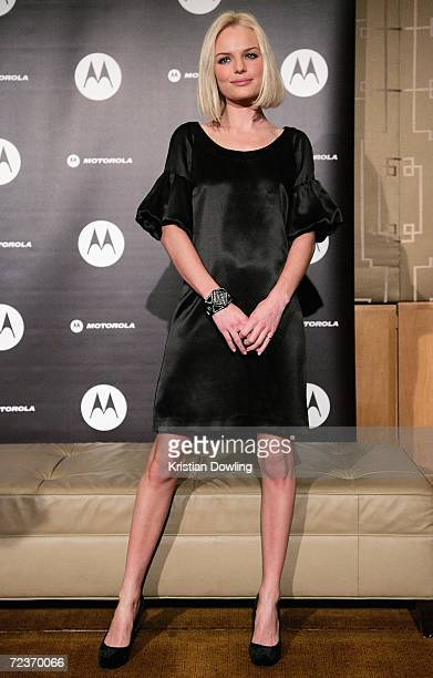 Actress Kate Bosworth attends a photocall in her capacity as Motorola's Spring Racing Carnival Ambassador ahead of her appearance at Derby Day at...