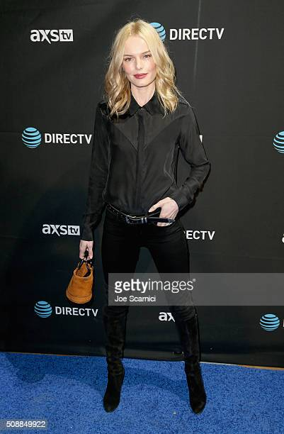 Actress Kate Bosworth attends DirecTV Super Saturday Night Cohosted by Mark Cuban's AXS TV at Pier 70 on February 6 2016 in San Francisco California