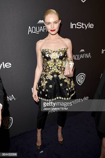 Actress Kate Bosworth attends The 2016 InStyle And Warner Bros 73rd Annual Golden Globe Awards PostParty at The Beverly Hilton Hotel on January 10...