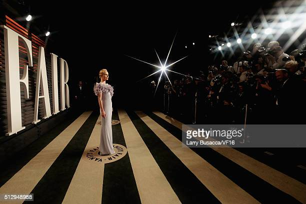Actress Kate Bosworth attends the 2016 Vanity Fair Oscar Party Hosted By Graydon Carter at the Wallis Annenberg Center for the Performing Arts on...