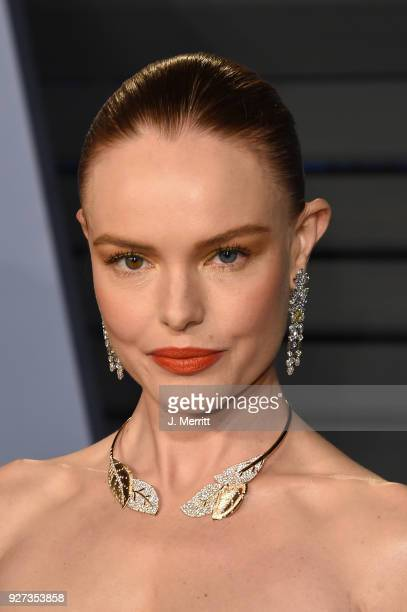 Actress Kate Bosworth attends the 2018 Vanity Fair Oscar Party hosted by Radhika Jones at the Wallis Annenberg Center for the Performing Arts on...
