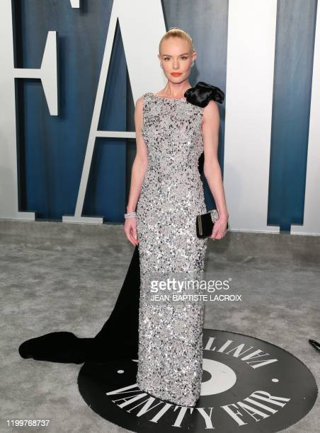 US actress Kate Bosworth attends the 2020 Vanity Fair Oscar Party following the 92nd Oscars at The Wallis Annenberg Center for the Performing Arts in...